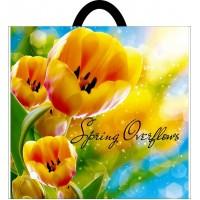 Пакет полиэтиленовый петлевой 380х340 желтые тюльпаны Кривой Рог