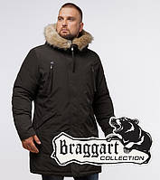 Braggart Arctic 13475   Парка зимняя с опушкой коричневая