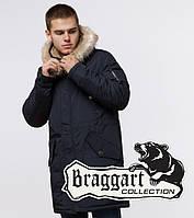 Braggart Arctic 91127   Зимняя парка для мужчин черно-синяя