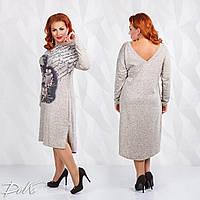 Женское стильное платье  ДГат0153 (бат)
