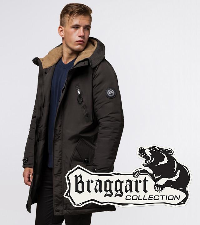 Braggart Arctic 96120   Зимняя мужская парка коричневая