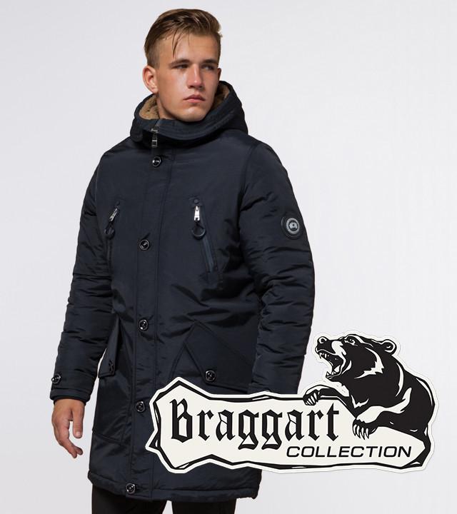 Braggart Arctic 96120 | Мужская зимняя парка черно-синяя