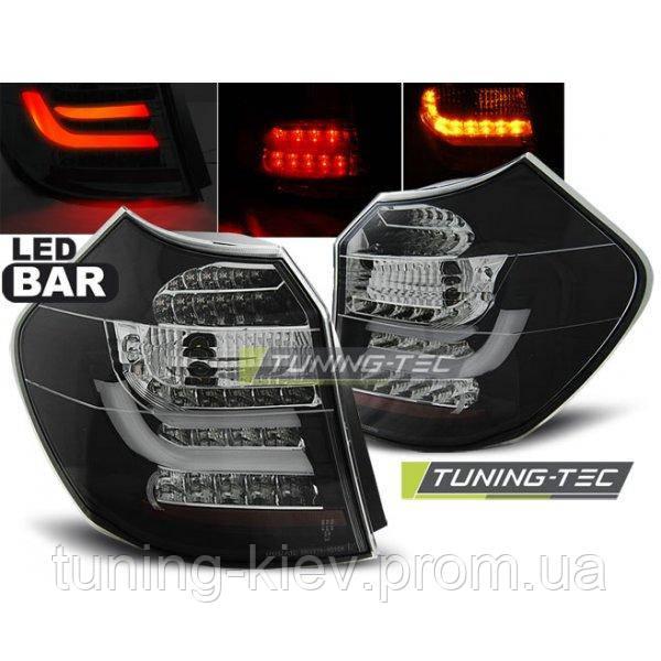 Задние фонари BMW E87/E81 04-08.07 BLACK LED BAR