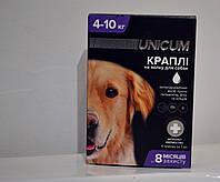 Капли Уникум Премиум Плюс Unicum Premium Plus для собак от блох клещей и глистов от 4-10кг