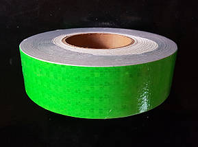 Світловідбиваюча самоклеюча ЗЕЛЕНА стрічка 5х100 см, фото 2