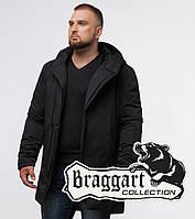 Braggart Black Diamond 12632 | Куртка зимняя мужская черная, фото 1