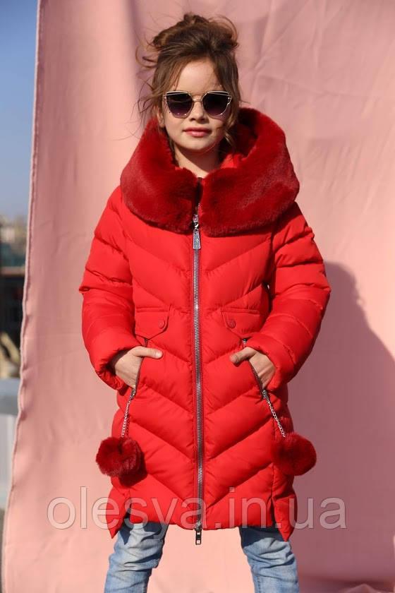Зимнее пальто на девочку Ясмин Новинка от Тм Nui Very Размеры 116 -158