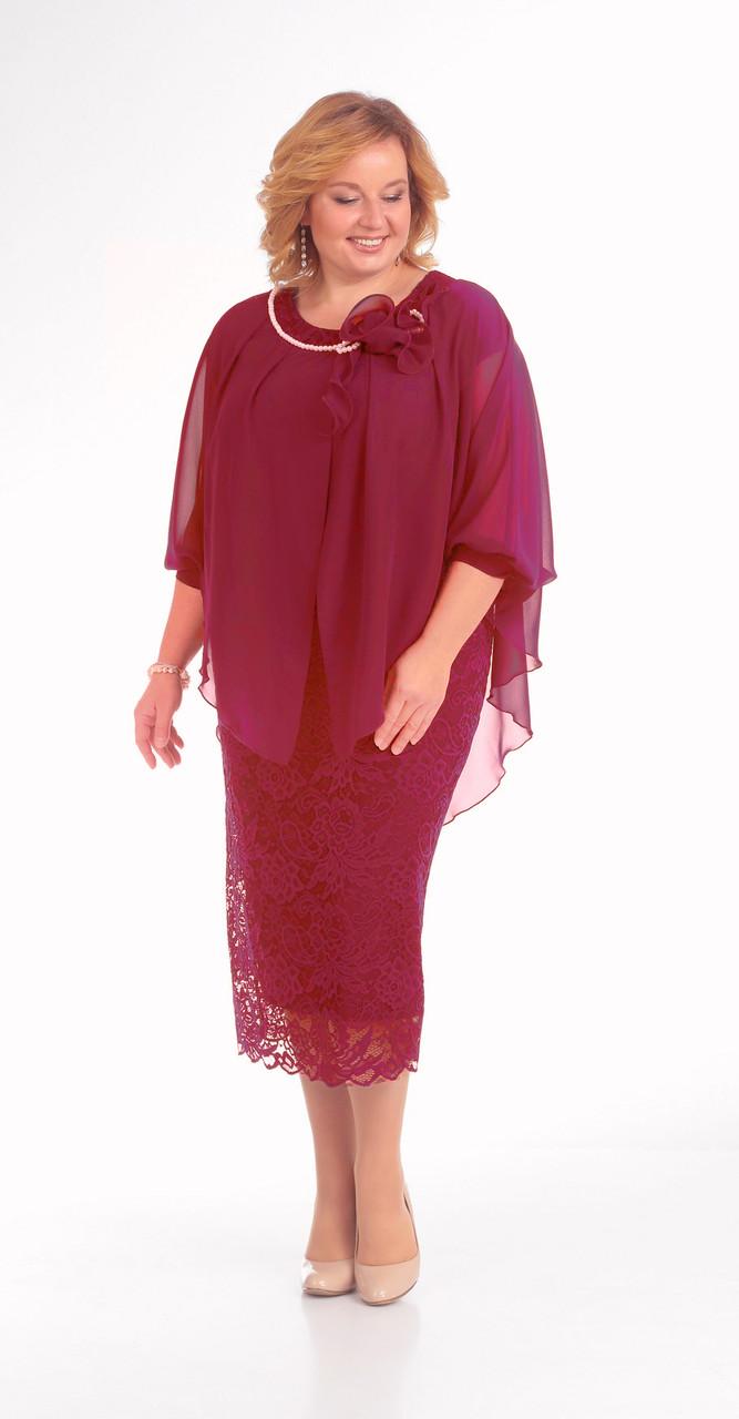 Платье Pretty-776/3 белорусский трикотаж, красный, 56