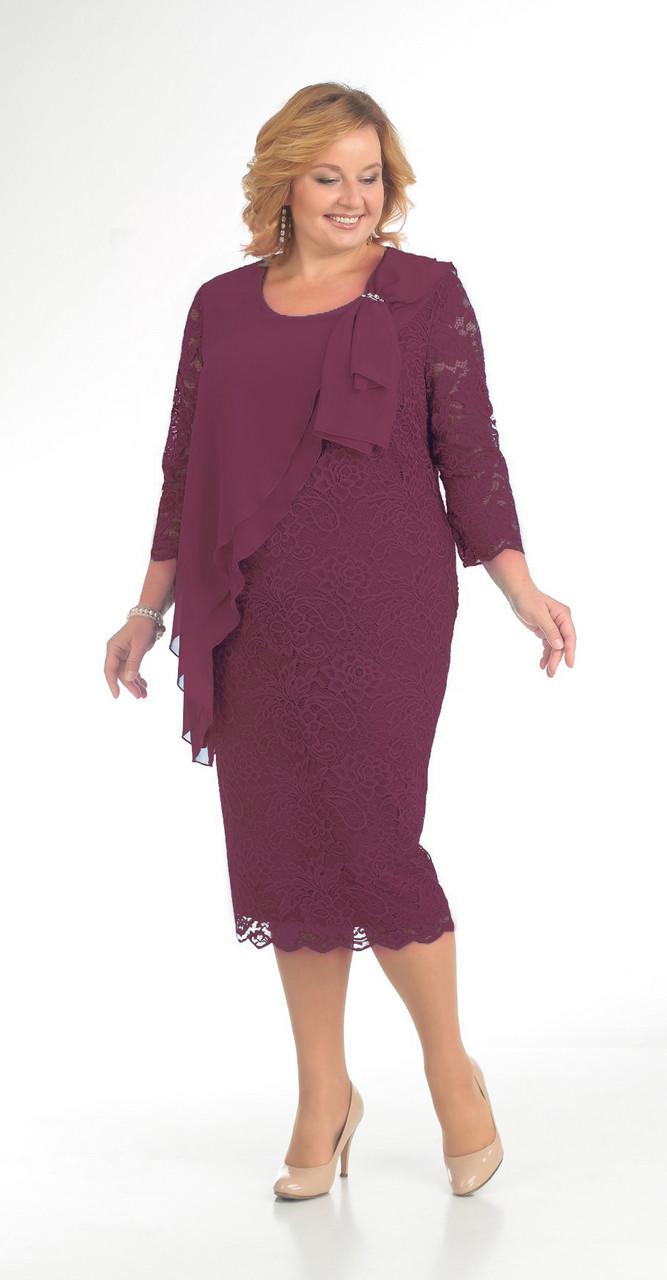 Платье Pretty-781/1 белорусский трикотаж, бордо, 56
