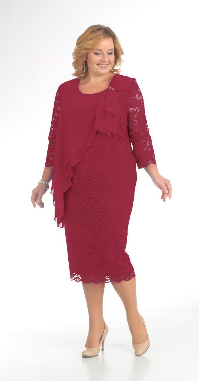 Платье Pretty-781/2 белорусский трикотаж, красный, 56