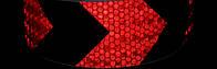Светоотражающая самоклеющаяся стрела ЧЕРНО-КРАСНАЯ лента 5х100 см