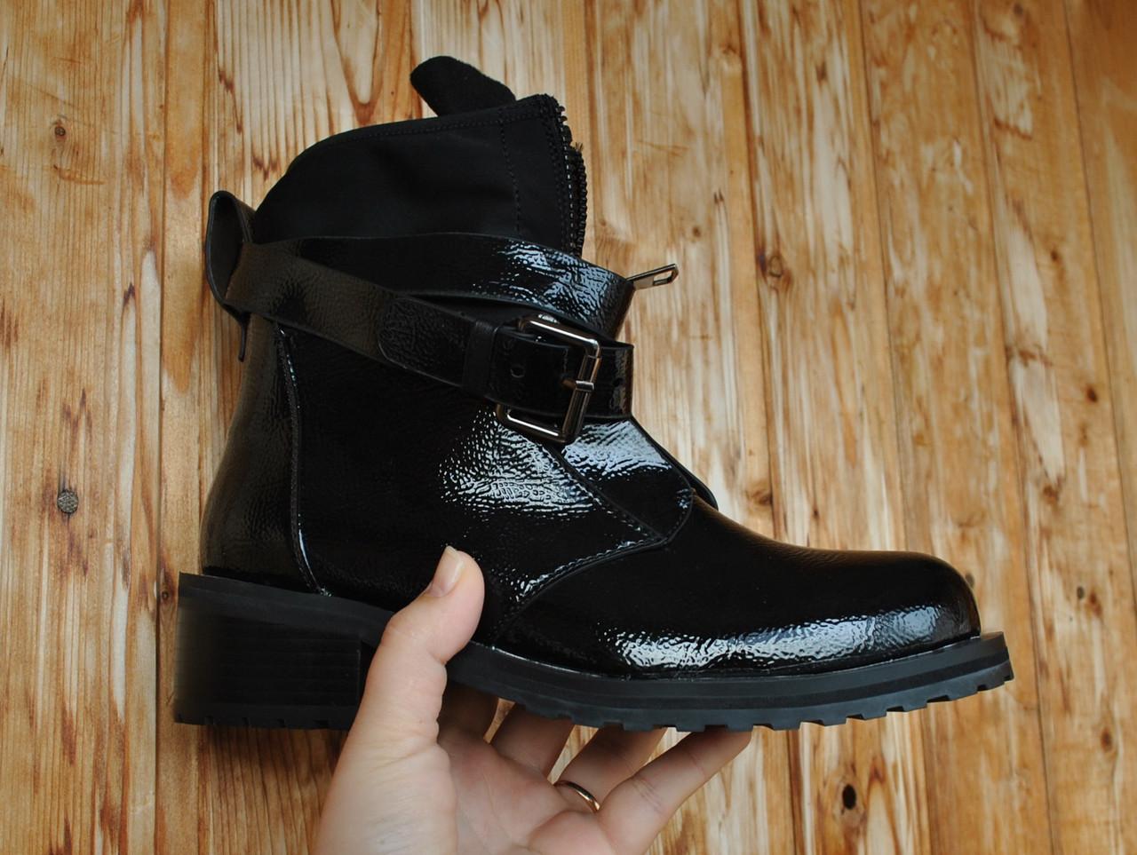 """Женские ботинки кожаные полусапожки демисезонные """"Disina"""""""