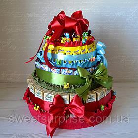 Торт из сладостей на День именинника