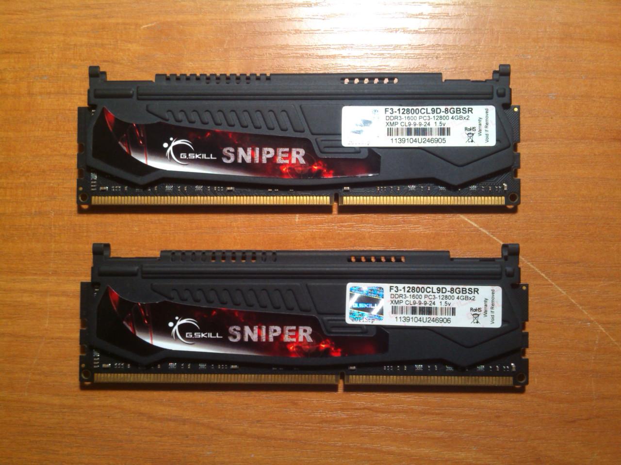 Пара G.SKILL DDR3 8GB 1600MHz PC3-12800 під Intel/AMD Гарантія!