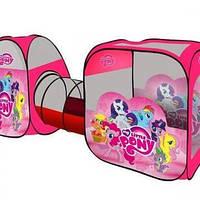 Палатка детская 3 в 1 + Тоннель M 3774 Пони My Little Pony 270-92-73 см KK