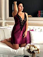 Женский пеньюар сорочка с кружевом, фото 1