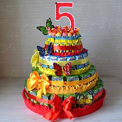 Торти з цукерок (подарунки для маленьких ласунів)