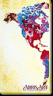 """Набор для вышивки бисером на холсте ТМ Абрис Арт """"Карта мира-1"""""""