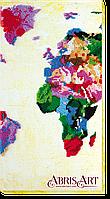 """Набор для вышивки бисером на холсте ТМ Абрис Арт """"Карта мира-2"""""""