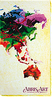 """Набор для вышивки бисером на холсте ТМ Абрис Арт """"Карта мира-3"""""""