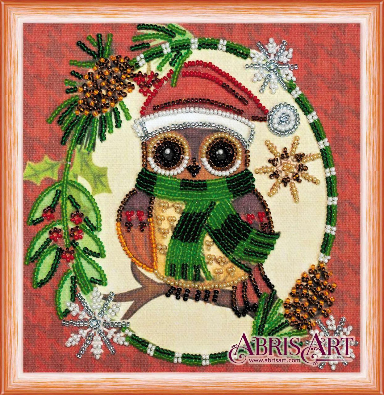 Набор для вышивки бисером ТМ АБрис Арт на натуральном художественном холсте Новогодний мотив