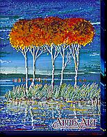 """Набор для вышивки бисером ТМ АБрис Арт на натуральном художественном холсте """"Огненная лазурь-3"""""""