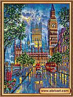 """Набор для вышивки бисером ТМ АБрис Арт на натуральном художественном холсте  """"Огни большого города"""""""