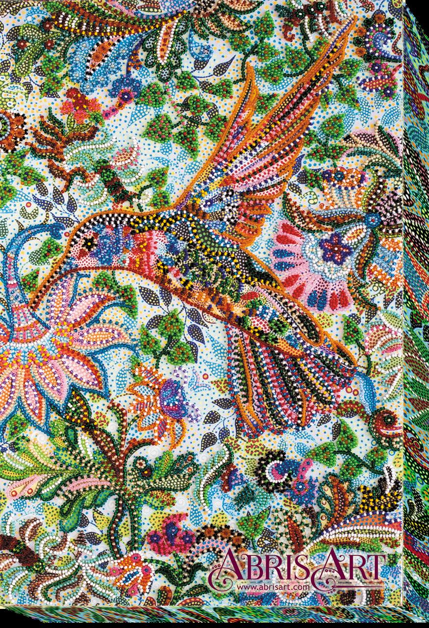 """Набор для вышивки бисером ТМ АБрис Арт на натуральном художественном холсте """"Порхая"""""""