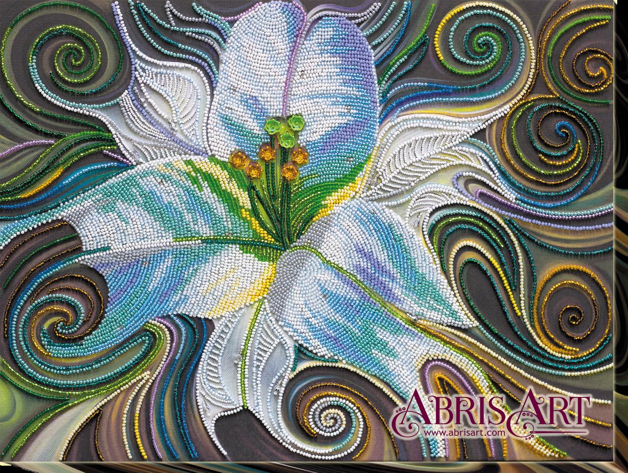 """Набор для вышивки бисером ТМ АБрис Арт на натуральном художественном холсте """"Принцесса флоры"""""""
