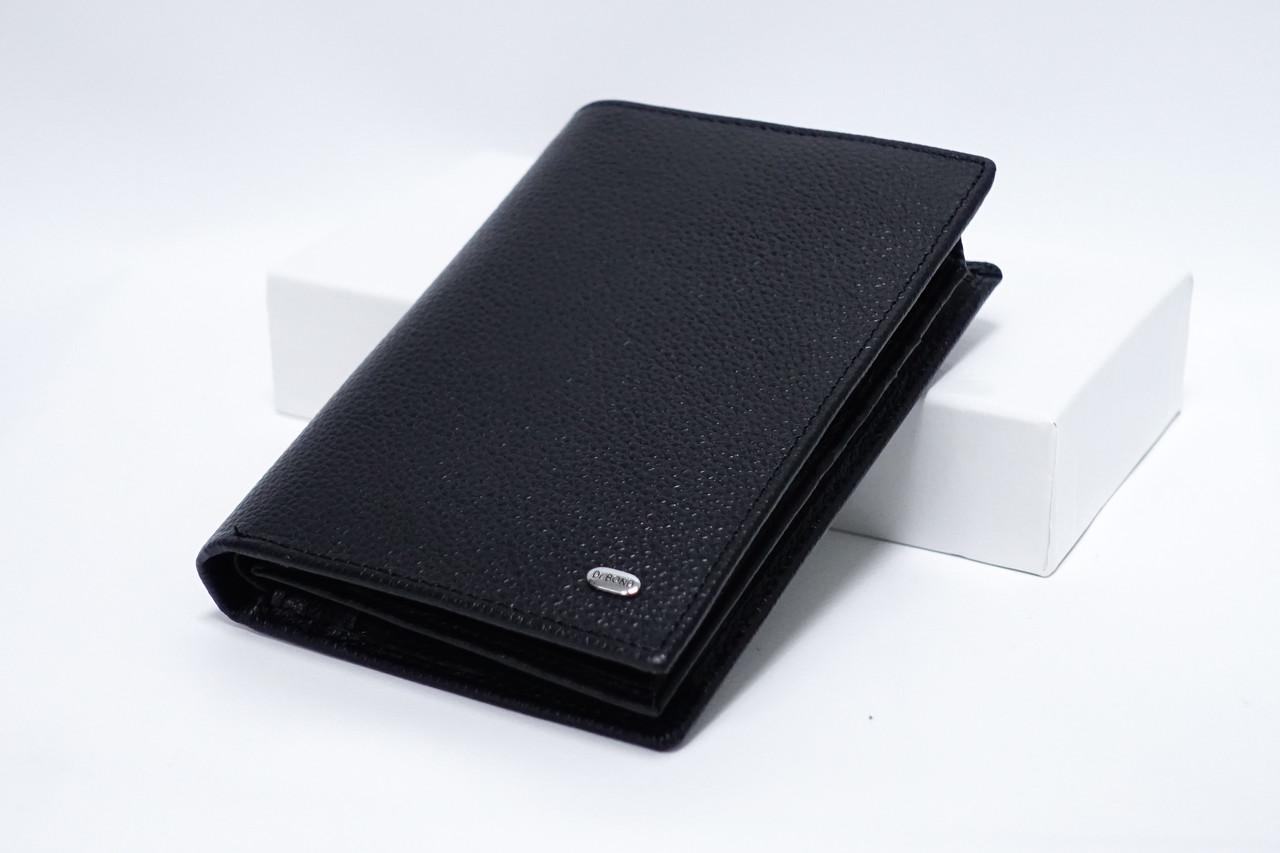 Кожаный кошелек Classik кожа Dr.Bond M64 black