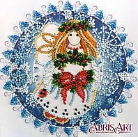 Набор для вышивки бисером ТМ АБрис Арт на натуральном художественном холсте Рождественский ангел