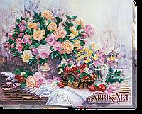"""Набор для вышивки бисером ТМ АБрис Арт на натуральном художественном холсте """"Розовая дымка"""""""