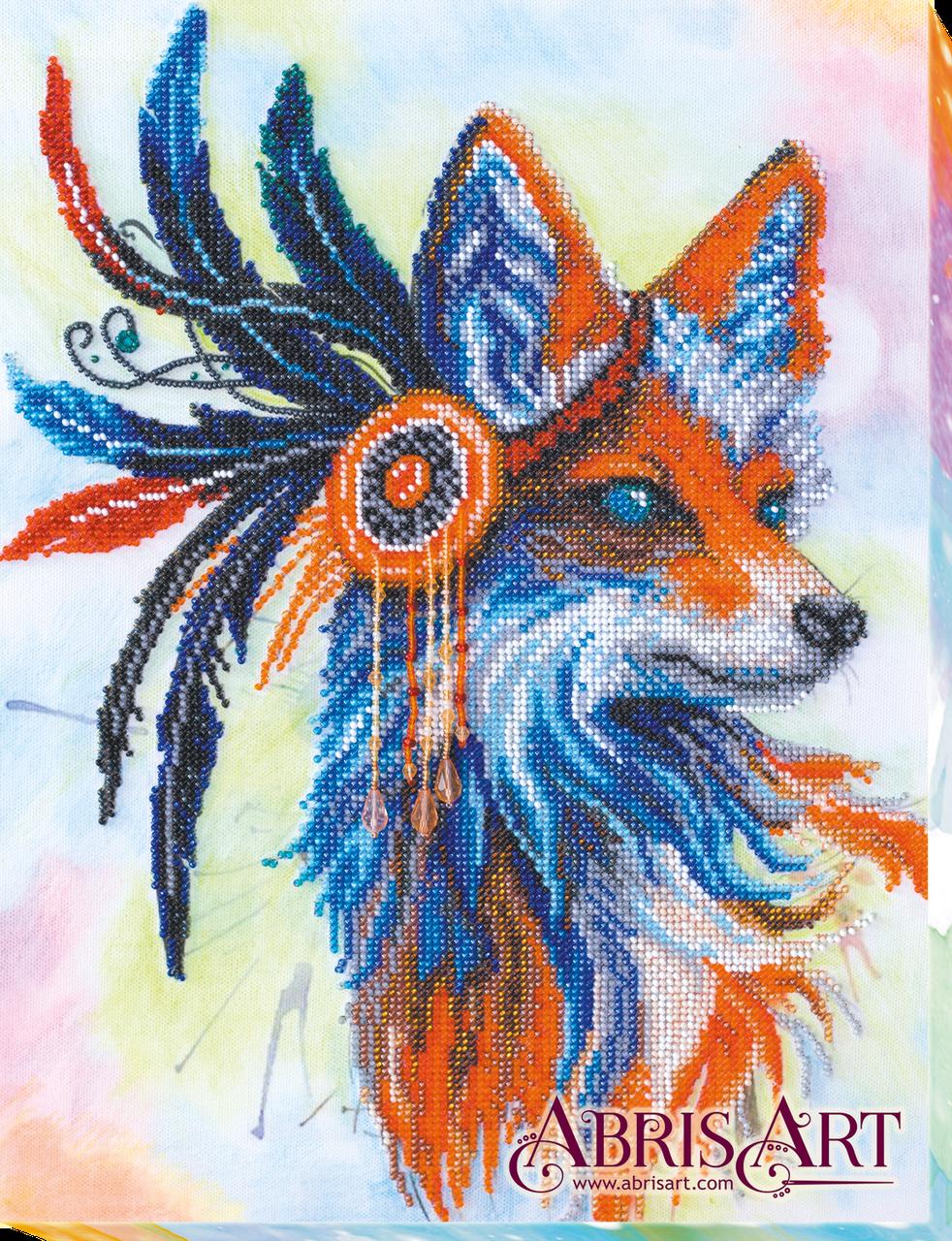 """Набір для вишивання бісером на натуральному художньому холсті """"Руда лисиця"""""""