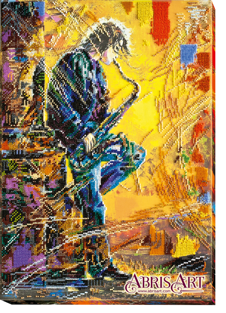"""Набор для вышивки бисером ТМ АБрис Арт на натуральном художественном холсте """"Саксофонист"""""""