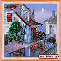 Набор для вышивки бисером ТМ АБрис Арт на натуральном художественном холсте Сиреневая луна