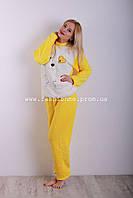 Тёплая махровая пижама костюм для  девочки, Турция
