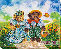 """Набор для вышивки бисером ТМ АБрис Арт на натуральном художественном холсте """"Солнечная полянка"""""""