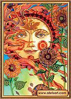 """Набор для вышивки бисером ТМ АБрис Арт на натуральном художественном холсте """"Солнечно-ветрено"""""""