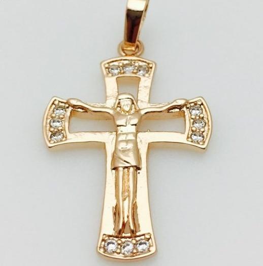Крест с камнями, длина 27 мм ширина 18 мм