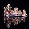 Тіара в стилі Dolce&Gabbana корона АМАЛІЯ, прикраси для волосся, діадема, фото 5