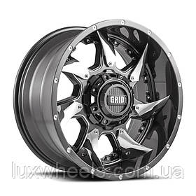 Диски GRID OFF-ROAD GD-1 Gloss Graphite with Chrome Inserts