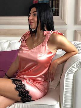 Соблазнительный атласный пеньюар, женская одежда для дома ТМ Exclusive.