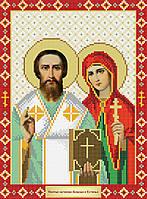 Схема для вишивки бісером Святі мученики Кіпріан і Устинья