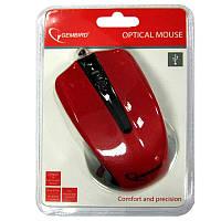 Компьютерная мышка Gembird MUS-101-R, красная USB