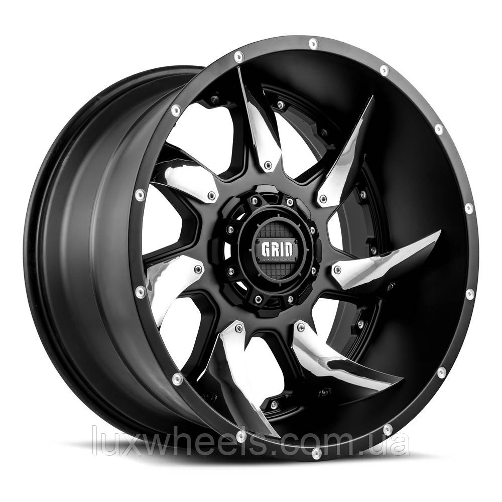 Диски GRID OFF-ROAD GD-1 Matte Black with Chrome Inserts
