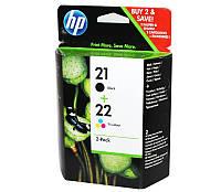 Комплект картриджей HP №21 (C9351AE) + №22 (C9352AE), DJ3920/3940, PSC1410, OEM