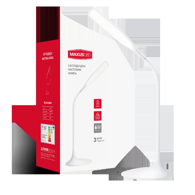 Светодиодная настольная лампа Maxus  1-DKL-001-01 DKL 6W