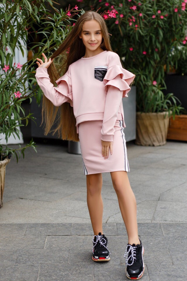 Костюм LiLove 393 140 розовый