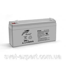 Акумулятор AGM RITAR RT632, Gray Case, 6V 3.2 Ah ( 134х35х60 (66) ) Q20