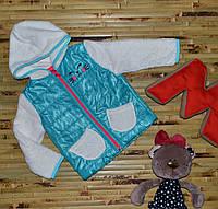 """Куртка на девочку """"Киса"""" (2, 3, 4 года)"""